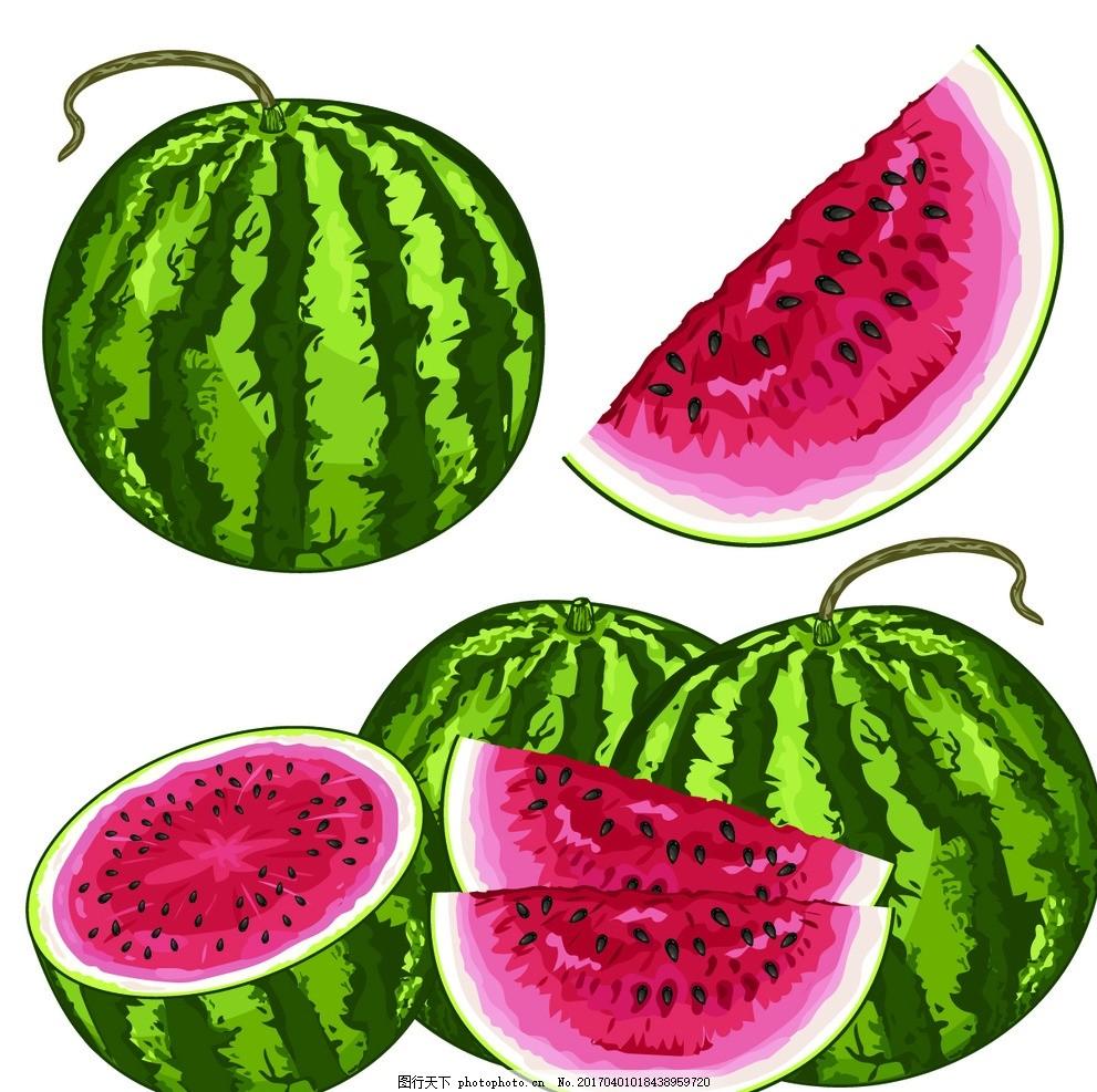 西瓜 水果 漫画 卡通画 食物 海报设计 设计 动漫动画 风景漫画 299