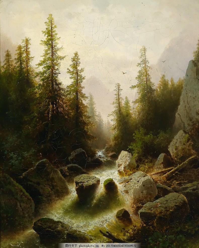 山水风景油画 田园油画 山水 山水画 古典油画 人物油画 抽象画 欧式