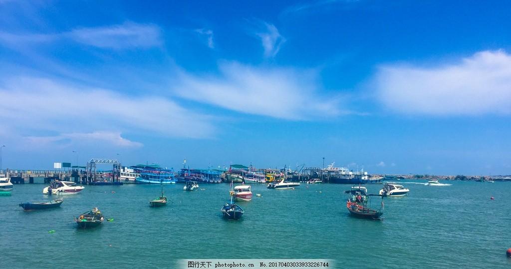 泰国 芭提雅 出海口 泰国 芭提雅 沙美岛 出海口 蓝天 白云 摄影 旅游