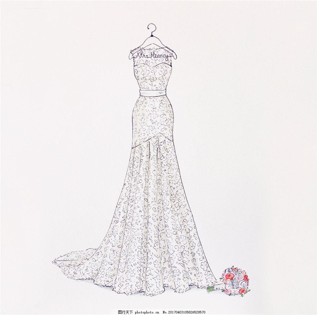 婚纱长裙设计图