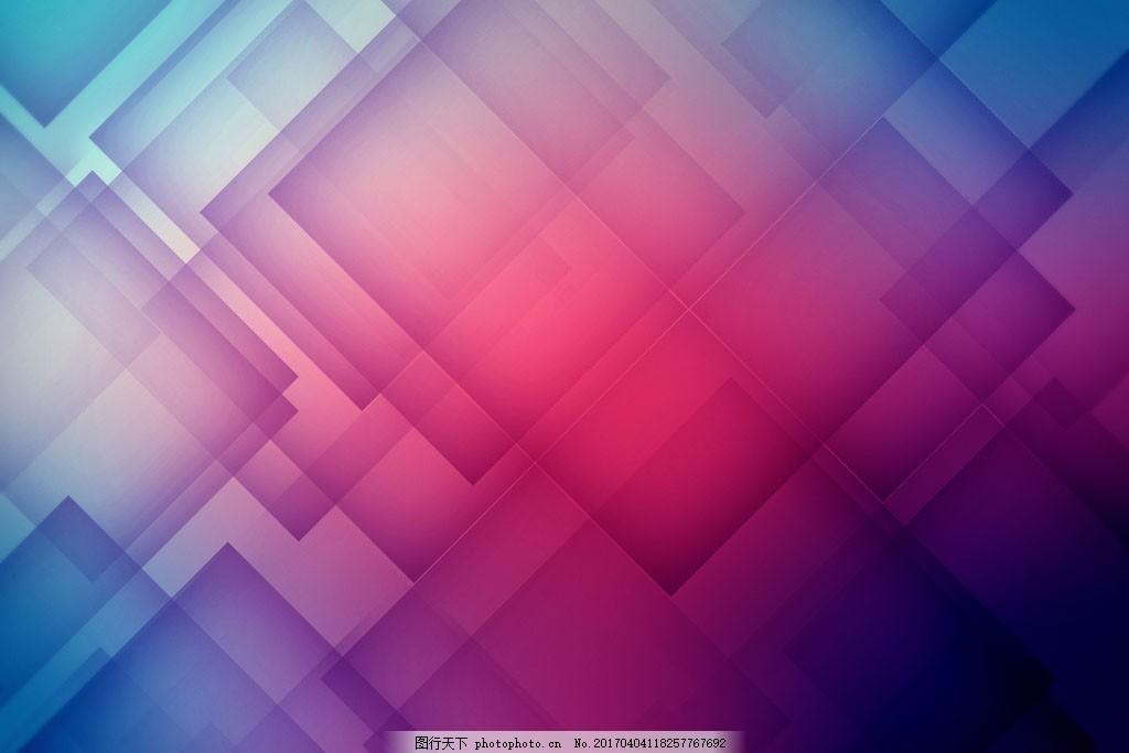 紫色梦幻方块背景 常用背景 几何背景 金融背景 淘宝背景