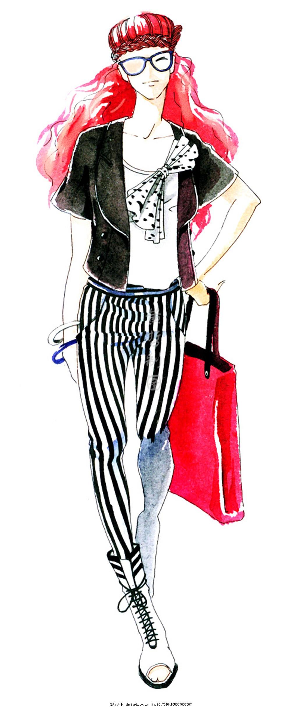 时尚女装设计手绘图 职业女装 职业装 女装设计效果图 短裙 服装图片