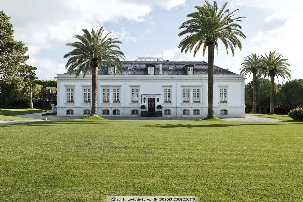 建筑效果图 建筑全景图 草地 别墅 城堡 jpg 建筑效果图下载 欧式建筑