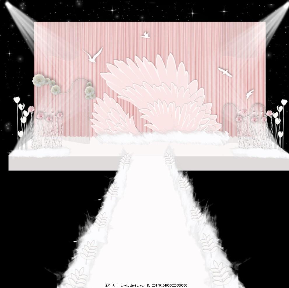 婚礼效果图 西式婚礼 韩式婚礼 展示区 迎宾区 收礼区 装饰 创意图片
