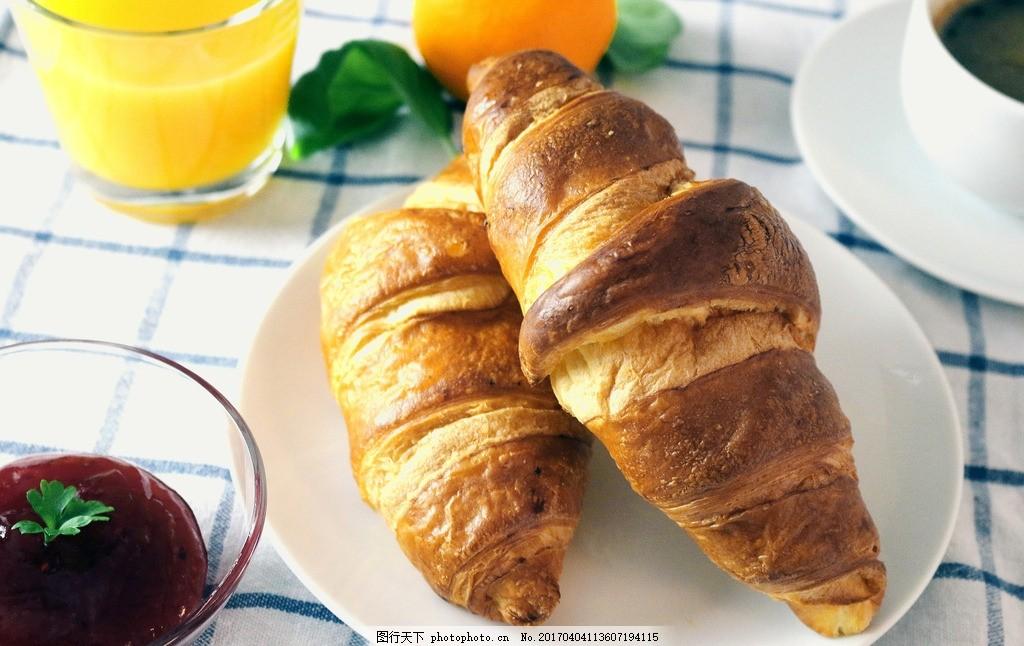 可颂面包 唯美 美食 美味 食物 食品 营养 健康 西餐 法式面包图片