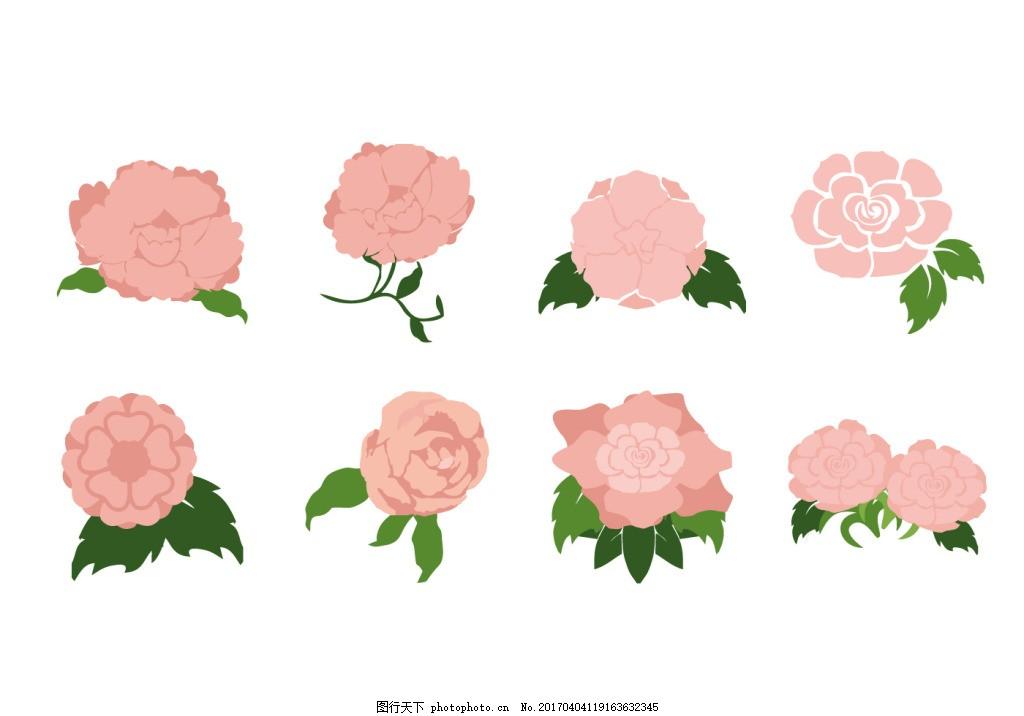 唯美粉色手绘玫瑰