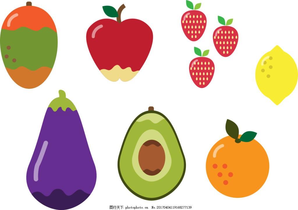 手绘矢量水果素材