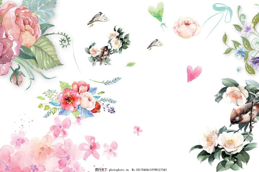花鸟手绘素材