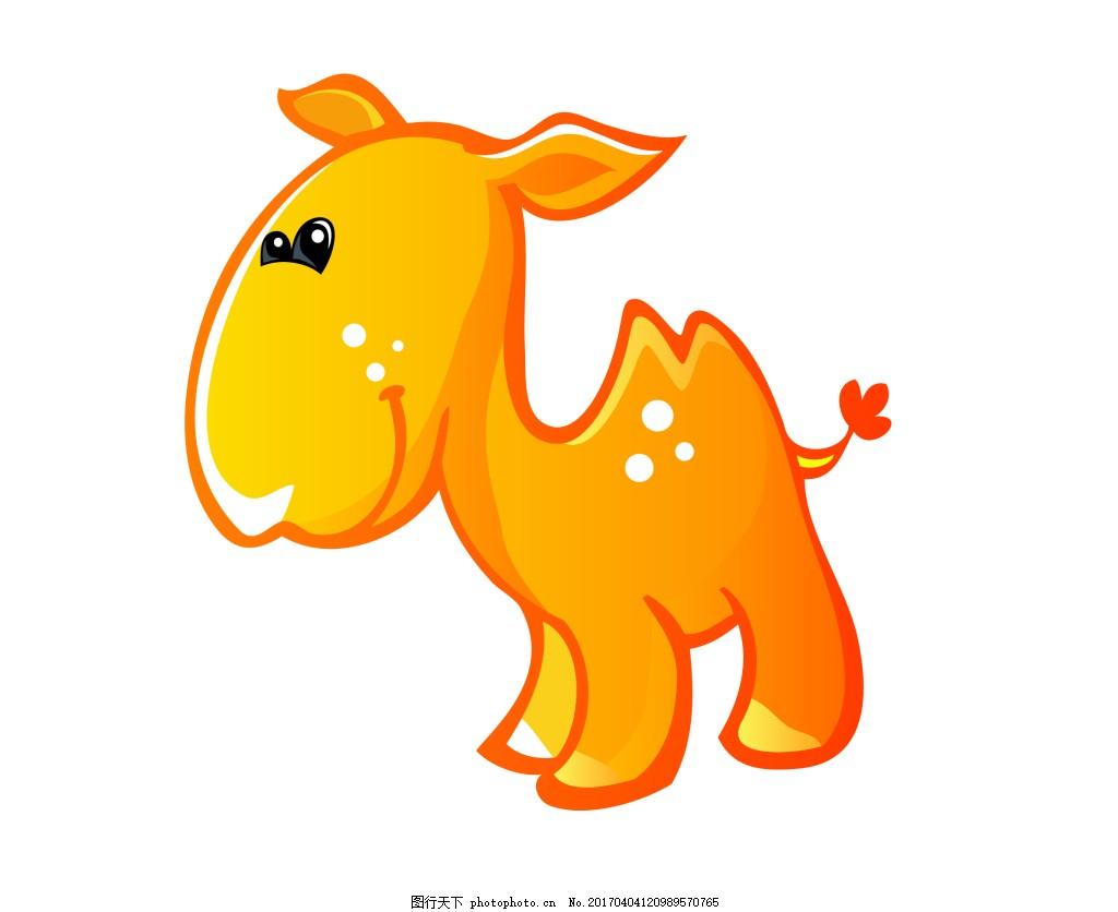 矢量可爱小黄狗eps 可爱q版动物模板下载 可爱q版动物图片下载 卡通