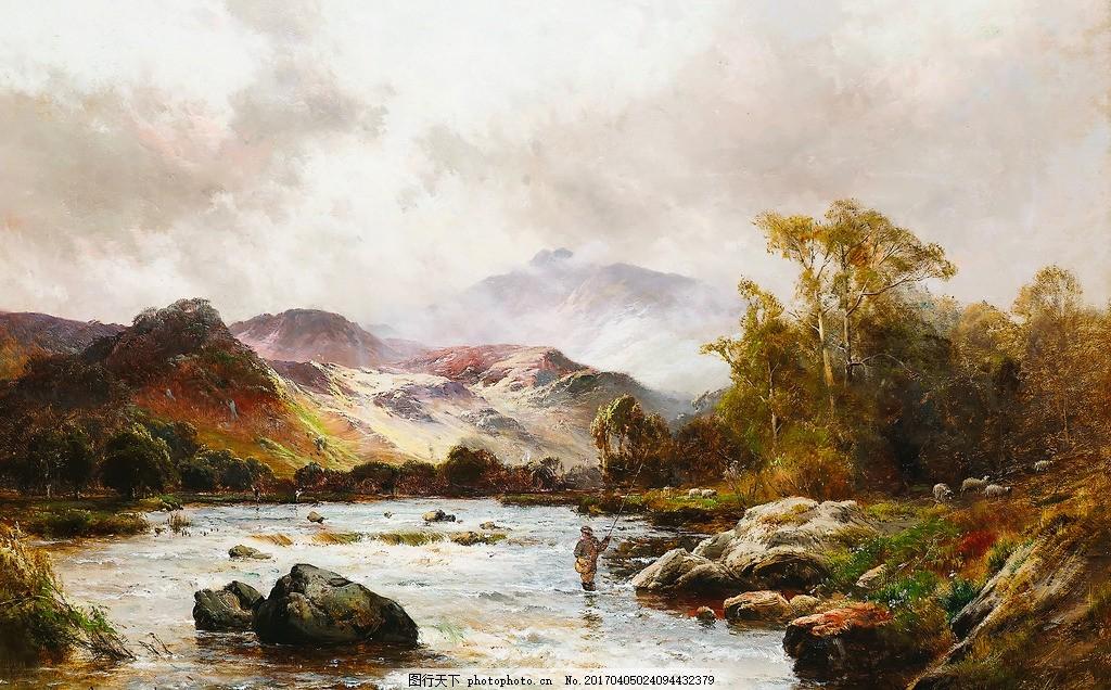 抽象画 欧式油画 抽象油画 装饰画 壁画 油画风景图 风景 古典油画