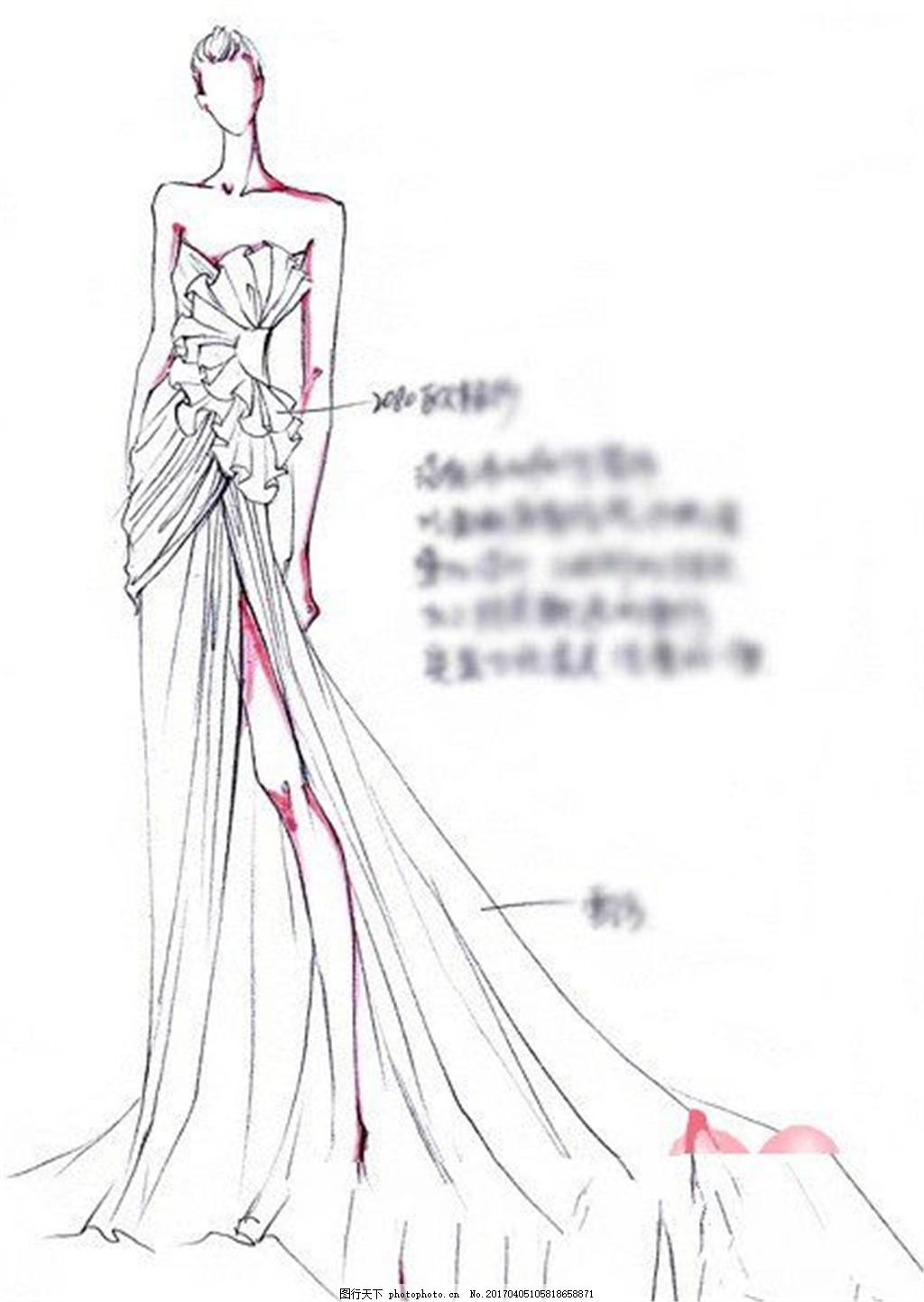 时尚长裙礼服设计图 服装设计 时尚女装 职业女装 职业装 女装设计
