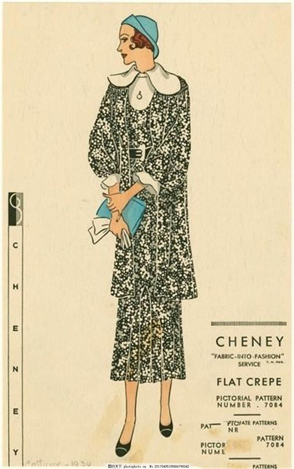 欧式碎花长裙设计图 时尚女装 职业女装 女装设计效果图 服装图片免