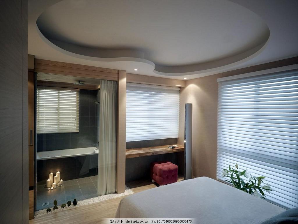 港式时尚卧室背景墙设计图图片