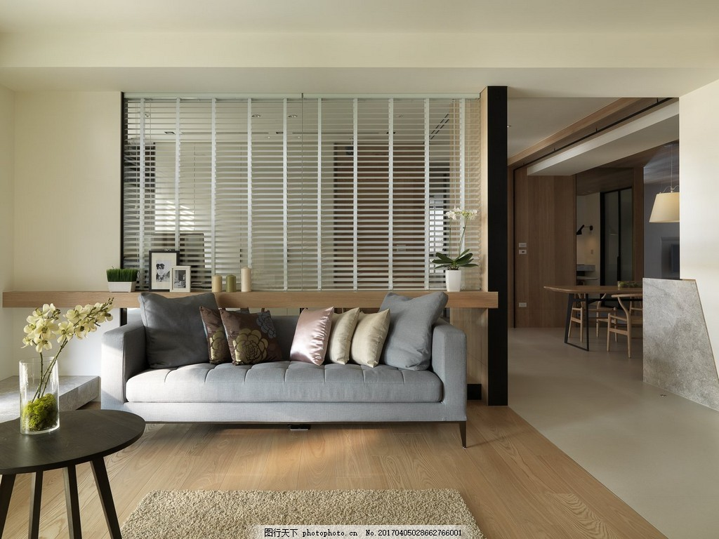港式时尚客厅沙发背景墙设计图图片