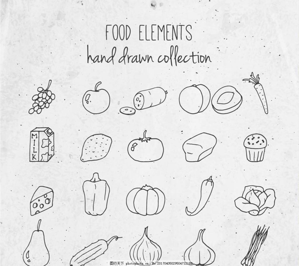 手绘食物图片 设计案例 广告设计 图行天下图库