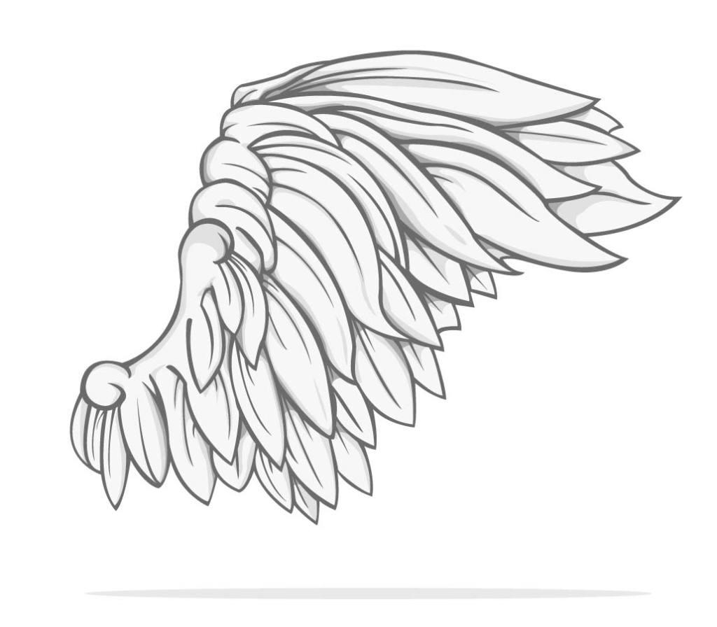 手绘翅膀图片大全