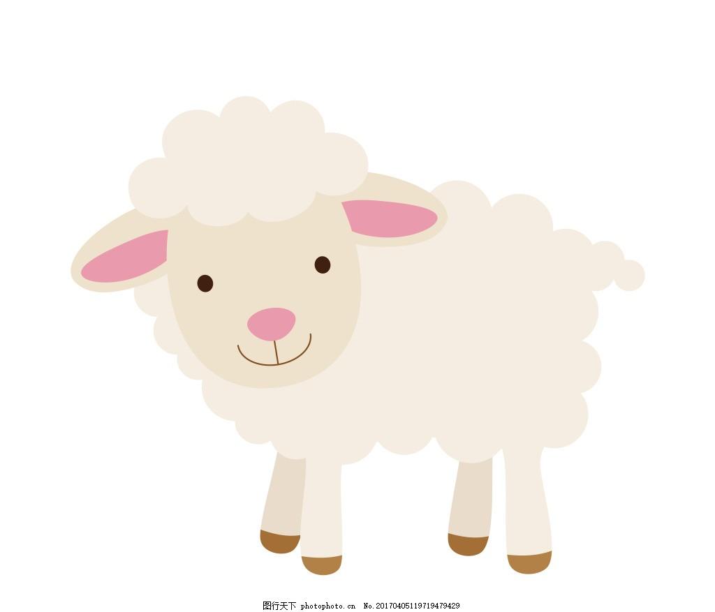 卡通小绵羊eps 卡通动物矢量图图片下载 可爱卡通动物图 矢量素材