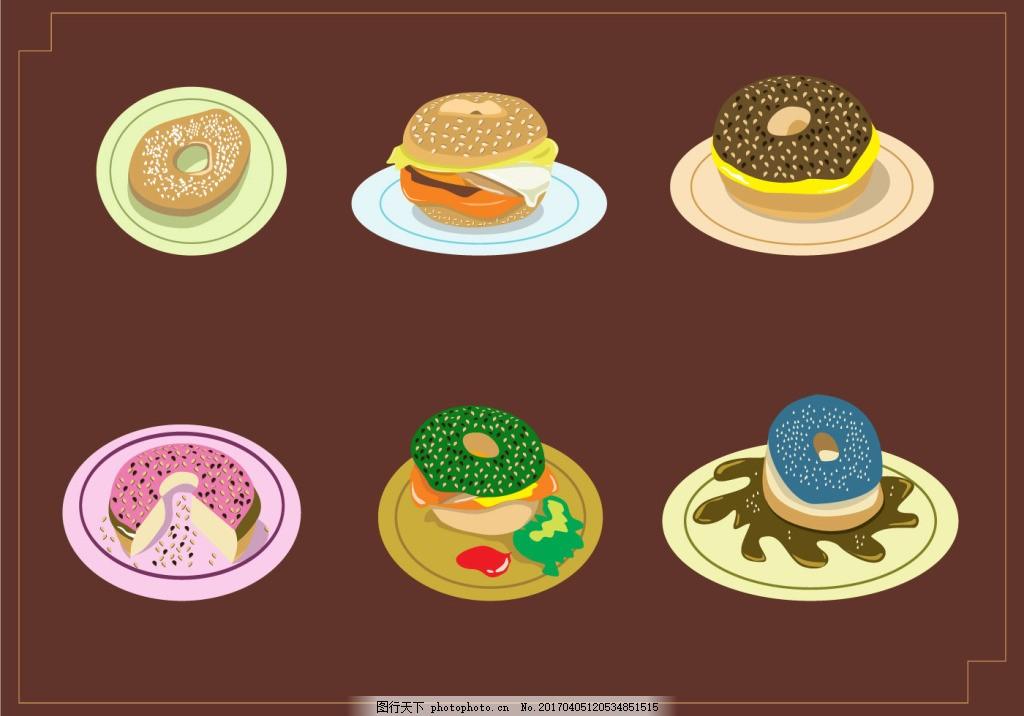 手绘可爱甜甜圈