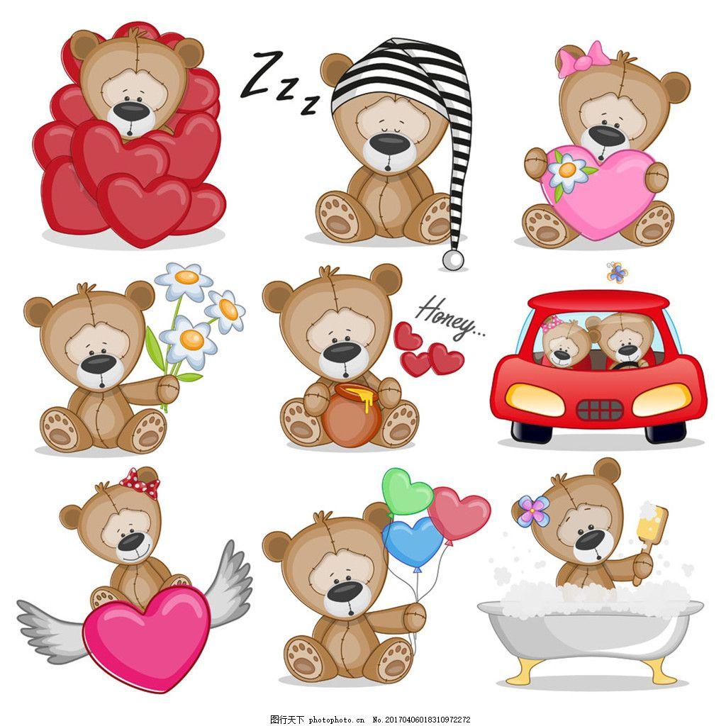一群可爱的小熊图片