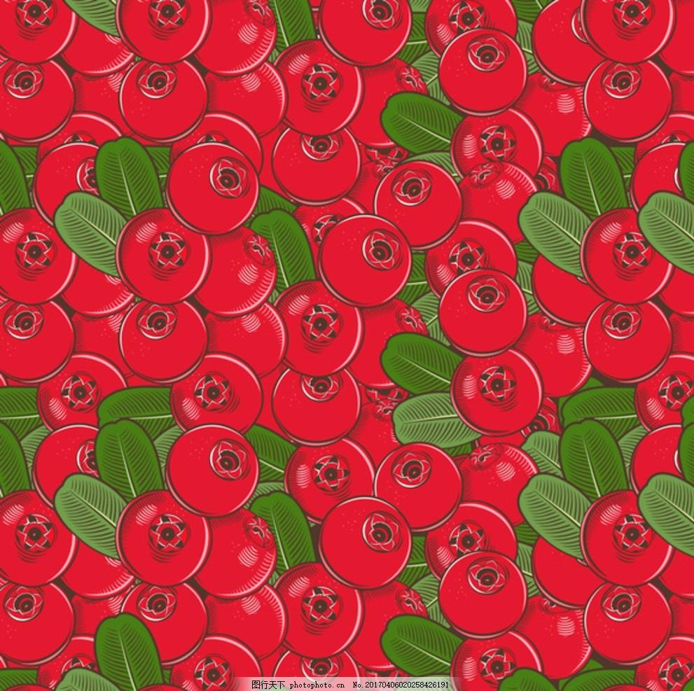 水果底纹 水果背景 手绘水果 水果图案 矢量 食品蔬菜水果 设计 底纹