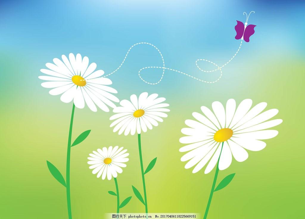 矢量手绘花卉唯美背景