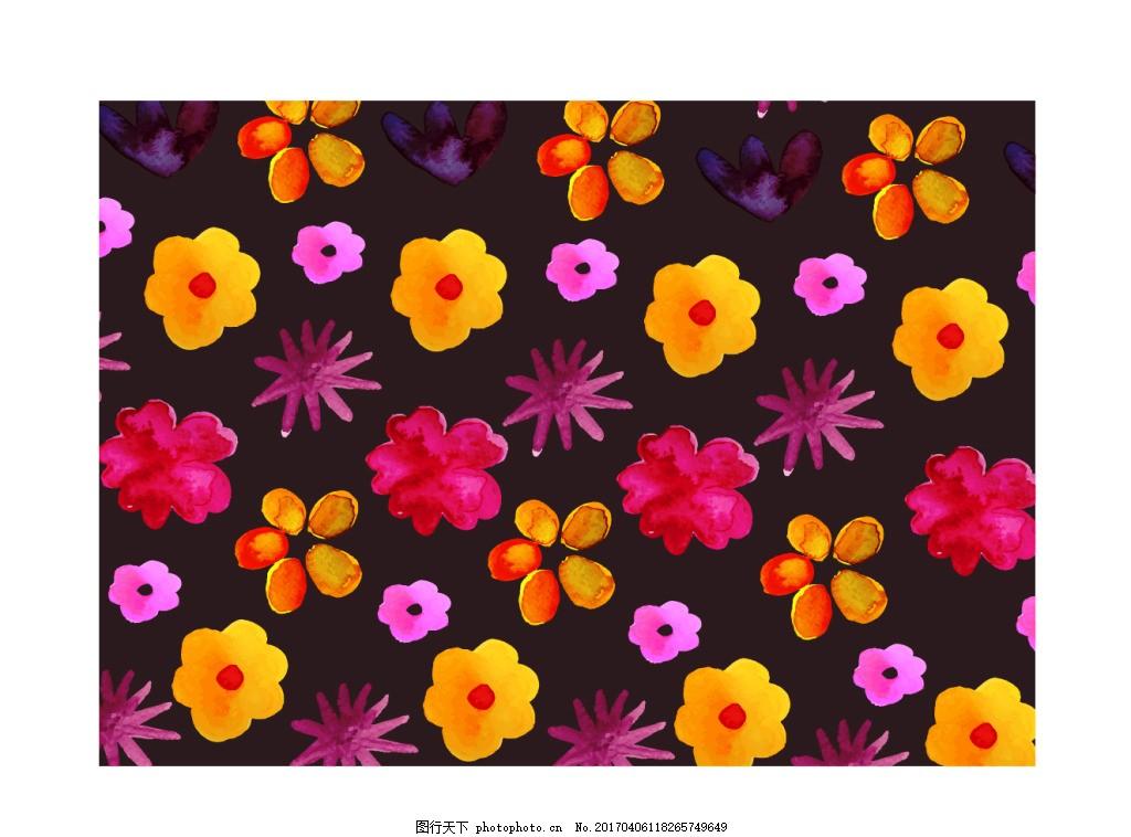 手绘水粉花卉背景