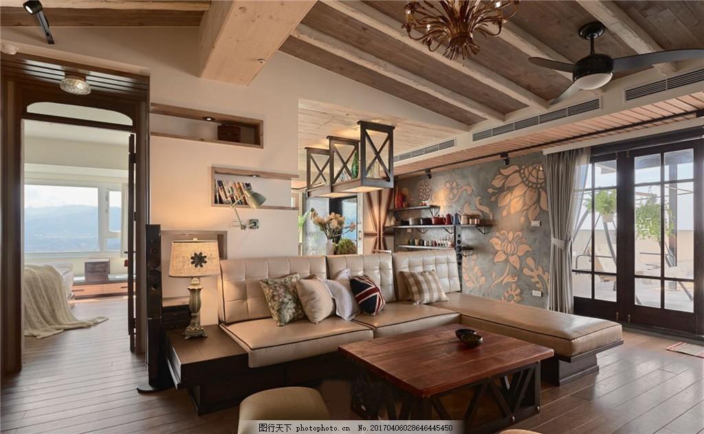 美式客厅装修效果图 室内设计 家装效果图 美式装修效果图 时尚 奢华