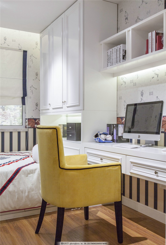 时尚卧室书桌设计图 家居 家居生活 室内设计 装修 室内 家具 装修