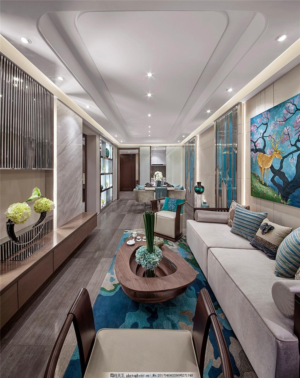 中欧简约客厅装修效果图 室内设计 家装效果图 欧式装修效果图 时尚