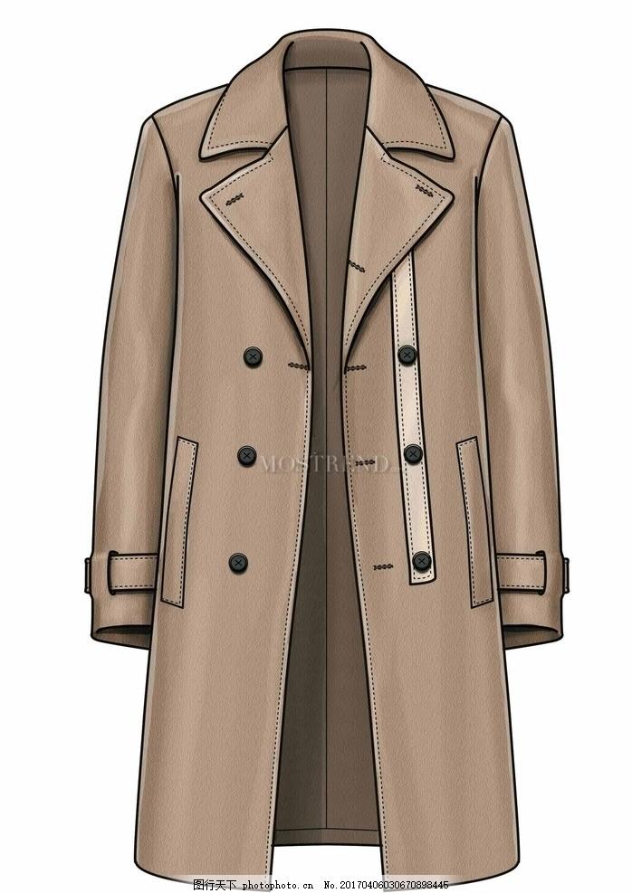大衣 冬装 男士大衣 风衣 服装 服装款式图 服装效果图 大衣款式