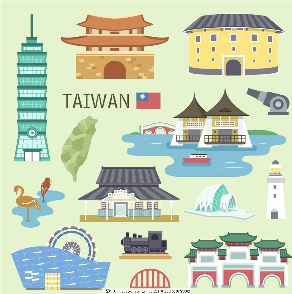 手绘 手绘旅游景点 手绘景点 旅行 旅游景点 卡通旅游景点 卡通路线图