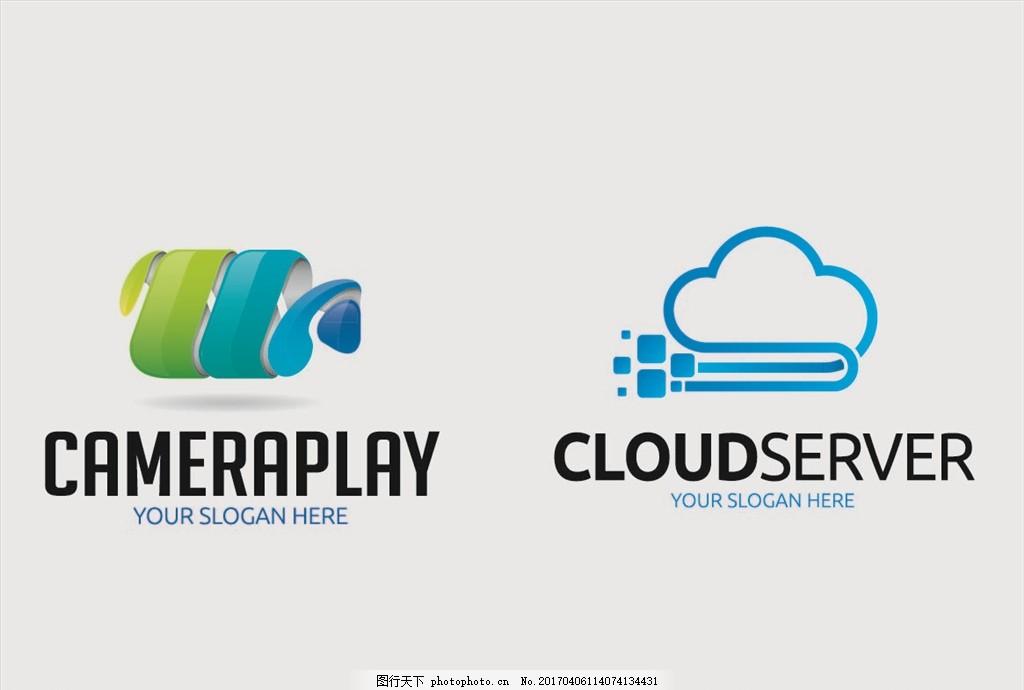 公司标志 图标设计 公司logo 企业商标 企业宣传 蝴蝶 摄像机 云形