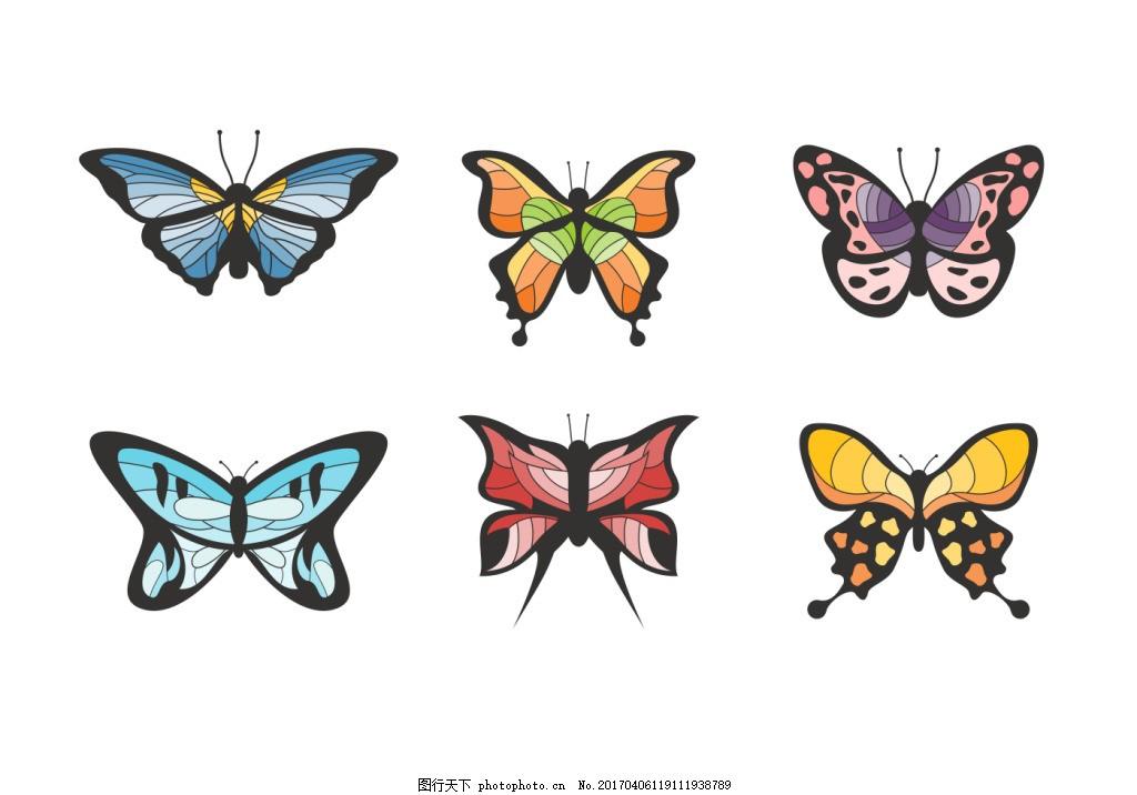 手绘蝴蝶素材