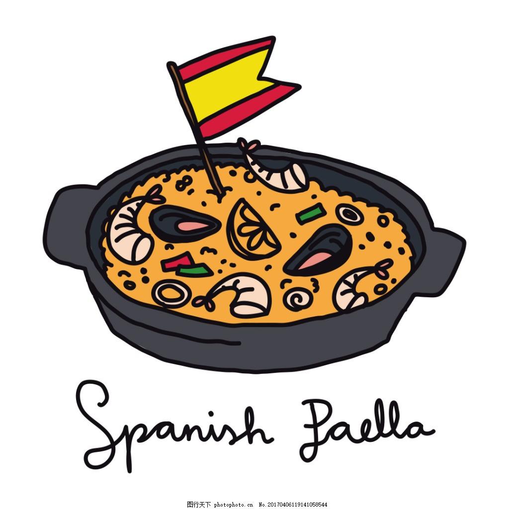 手绘韩国美食素材 手绘美食 食物 手绘食物 矢量素材 美食插画