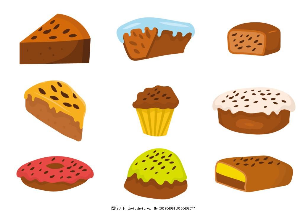 矢量手绘甜点素材 手绘糖果 糖果 手绘食物 手绘美食 糖 甜品 手绘