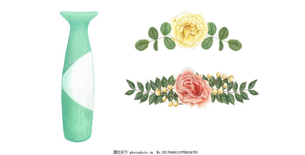 手绘花朵植物素材 彩铅 彩铅植物 手绘插画 唯美 花卉花朵 手绘植物
