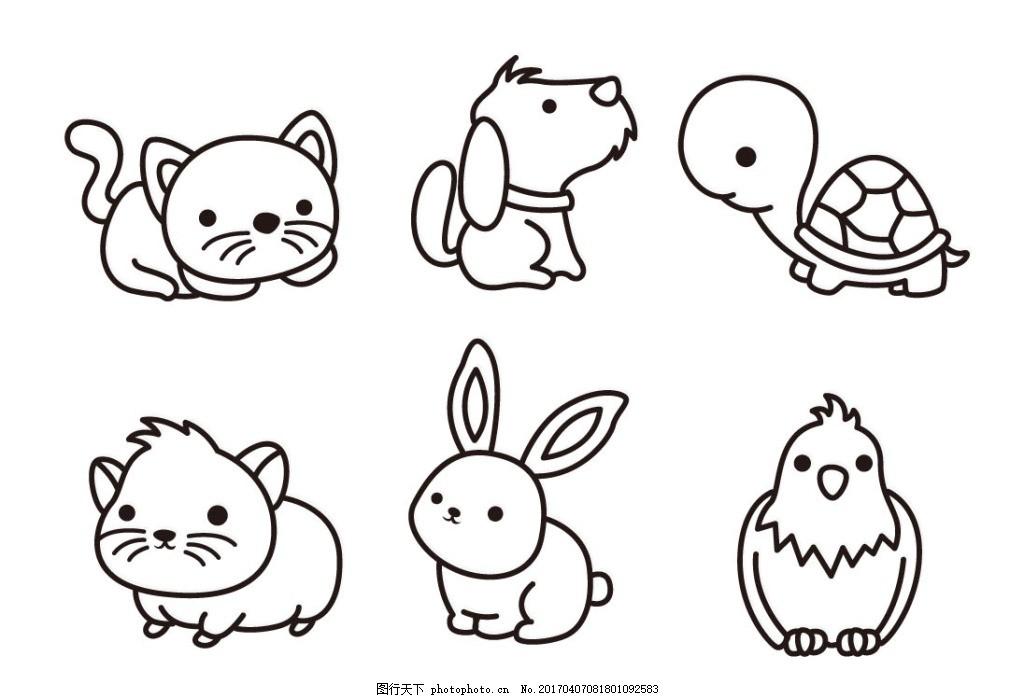 小猫图片卡通简笔画