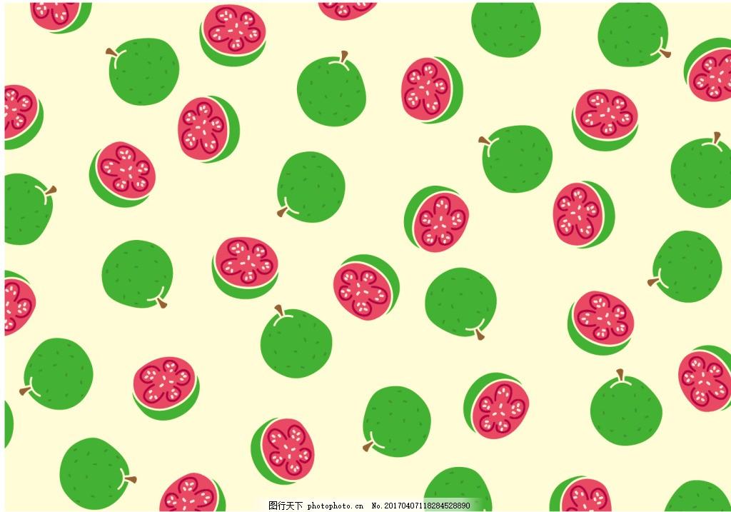 手绘百香果水果背景