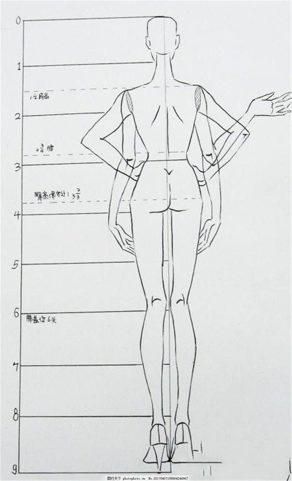 服装设计线稿图