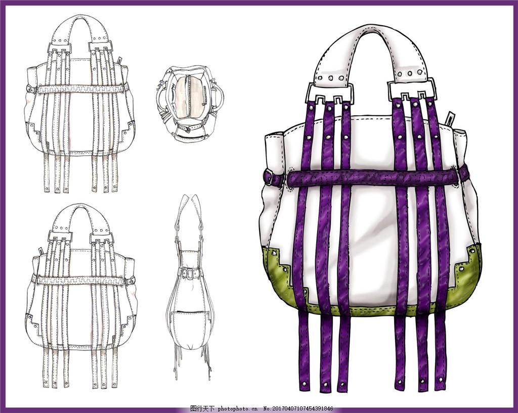 时尚包包设计图 钱包 女包 箱包 时尚女包 手提包 背包 双肩包
