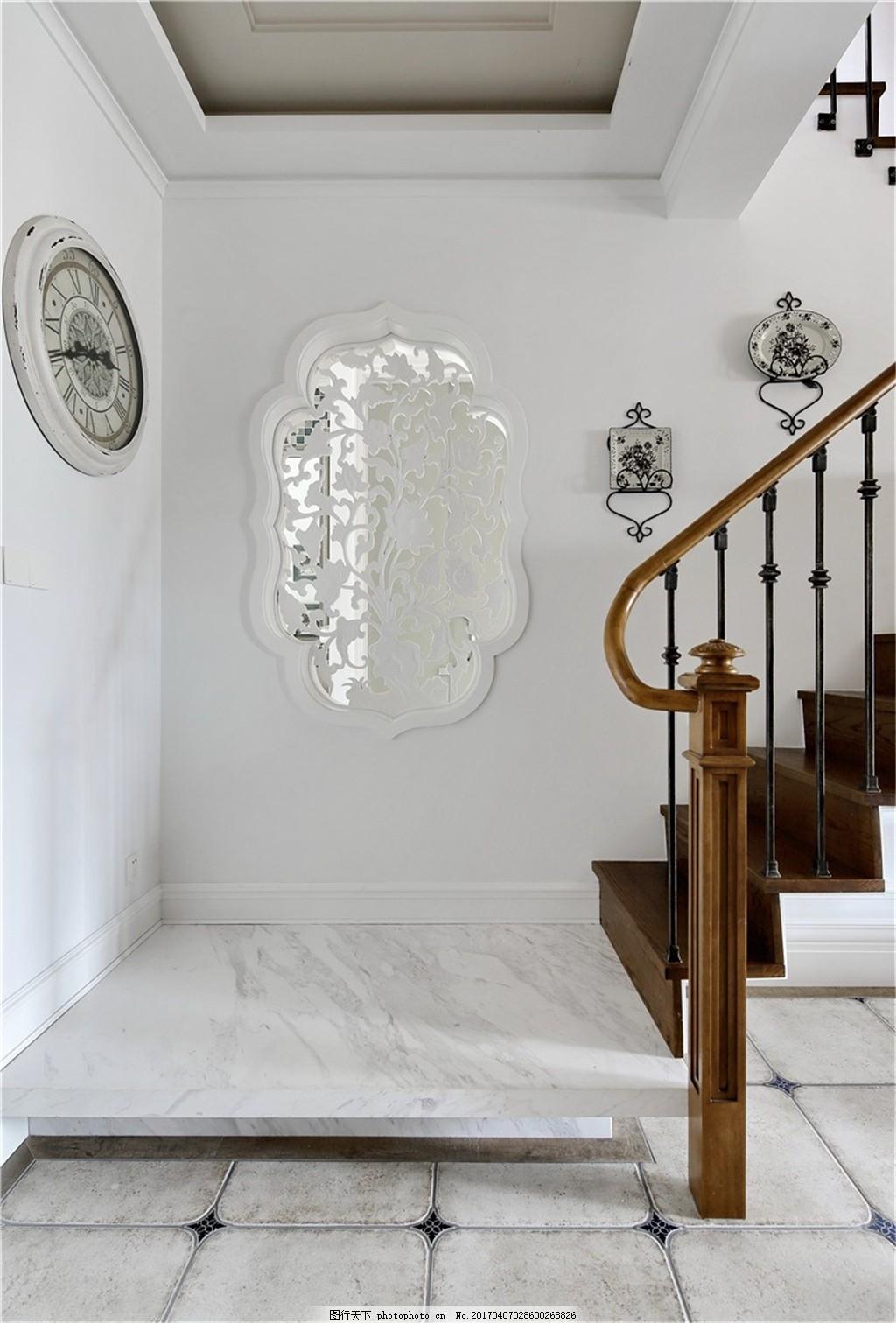 室內裝修 裝修實景圖 家裝設計圖片下載 jpg 現代裝修 別墅 樓梯口