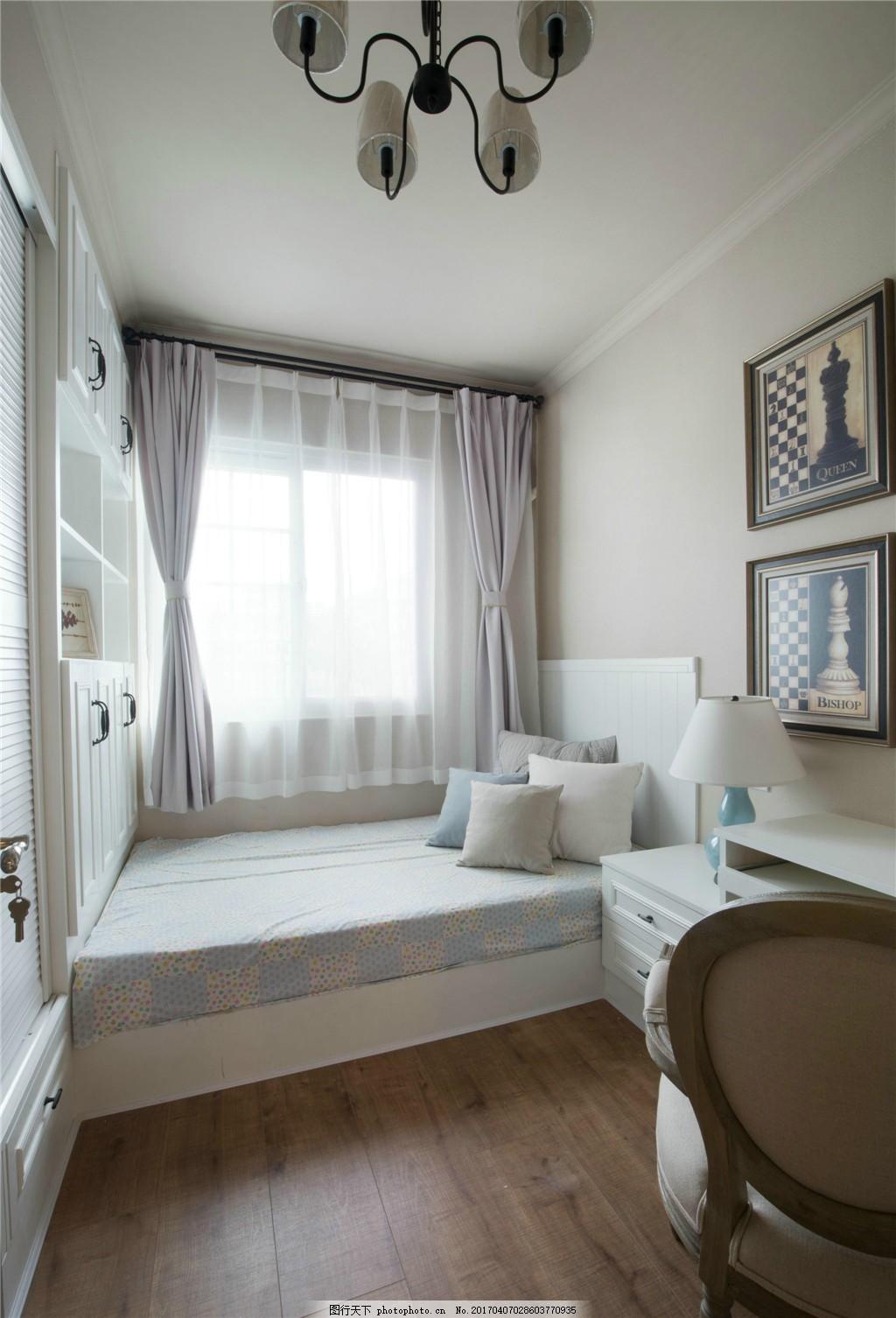 美式小房间卧室设计图 家居 家居生活 室内设计 装修 家具 装修设计图片