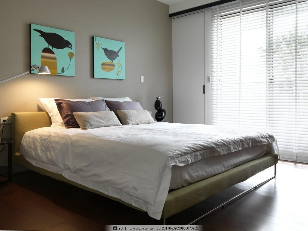 港式时尚卧室大床设计图图片