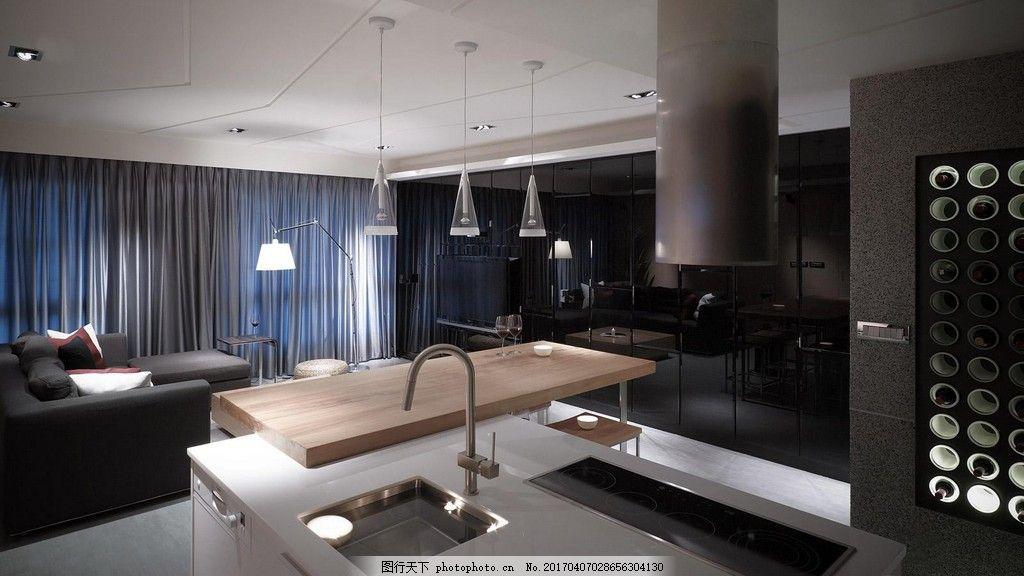 港式简约厨房餐厅设计图图片