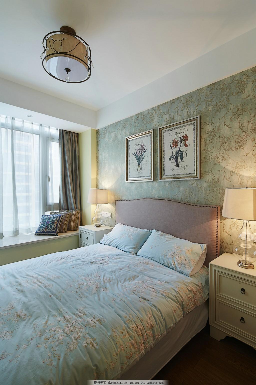 欧式简约卧室装修效果图 jpg 房间 家装效果图 欧式装修效果图 奢华