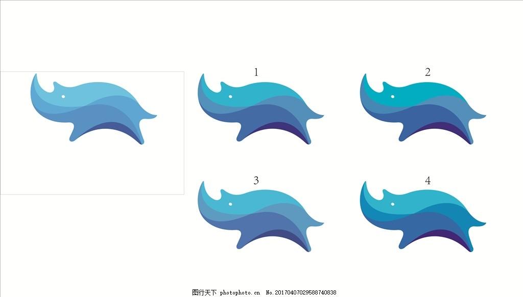 蓝犀牛 标志 标识 动物 犀牛 车贴 广告设计 制作 简单边框 设计 广告