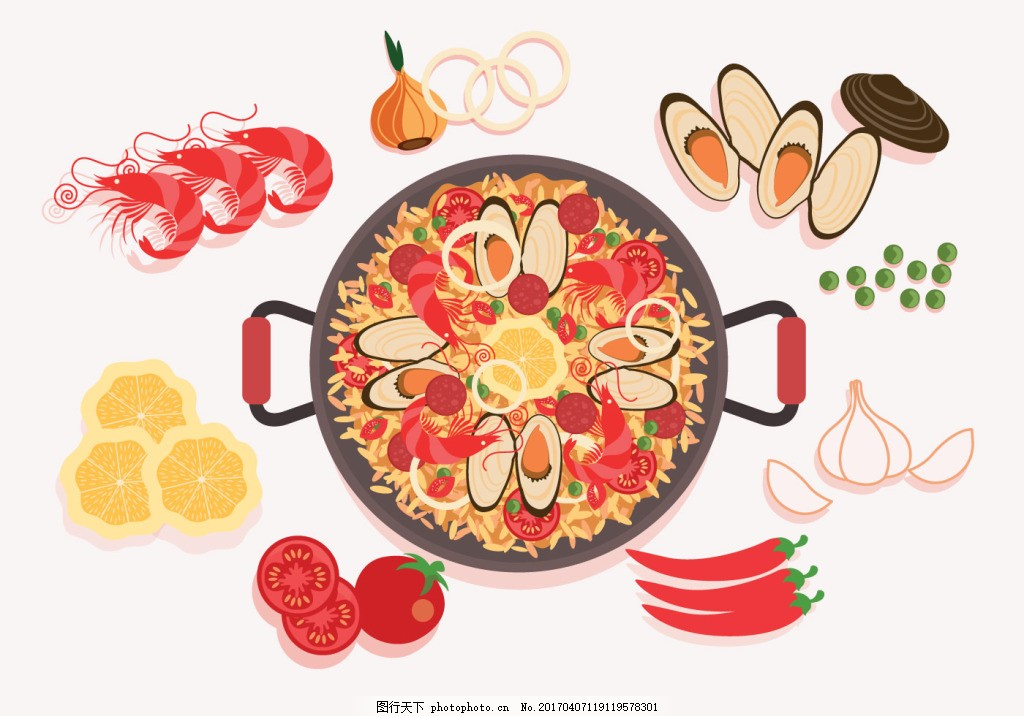 食物 美食 手绘食物 矢量素材 美食插画 扁平化食物 手绘美食 韩式