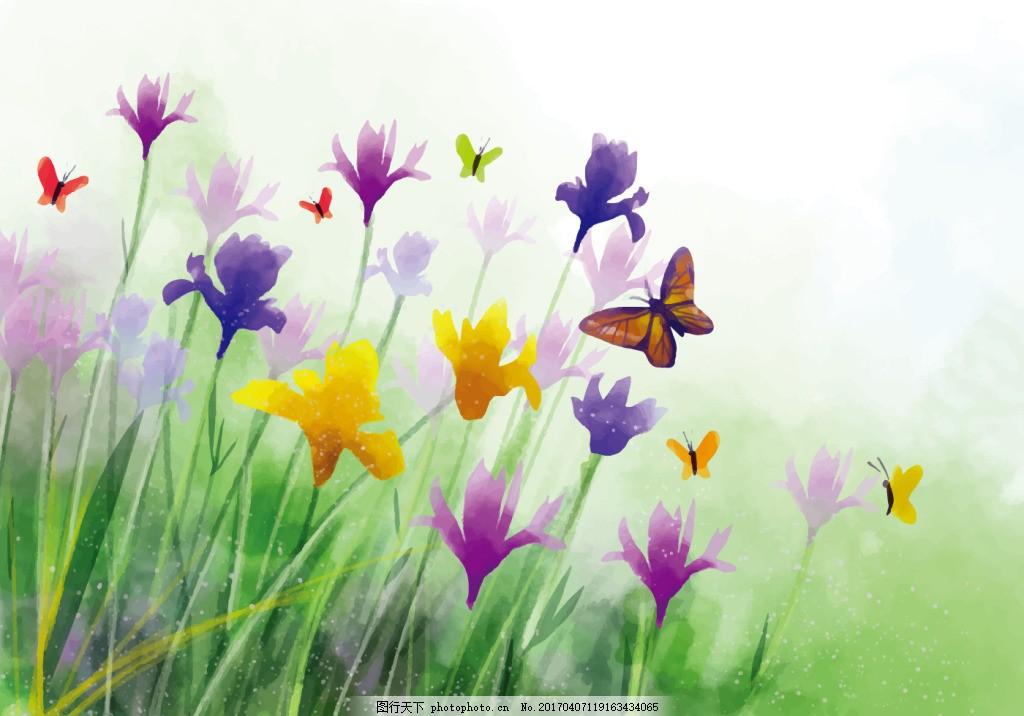 手绘水彩唯美花卉