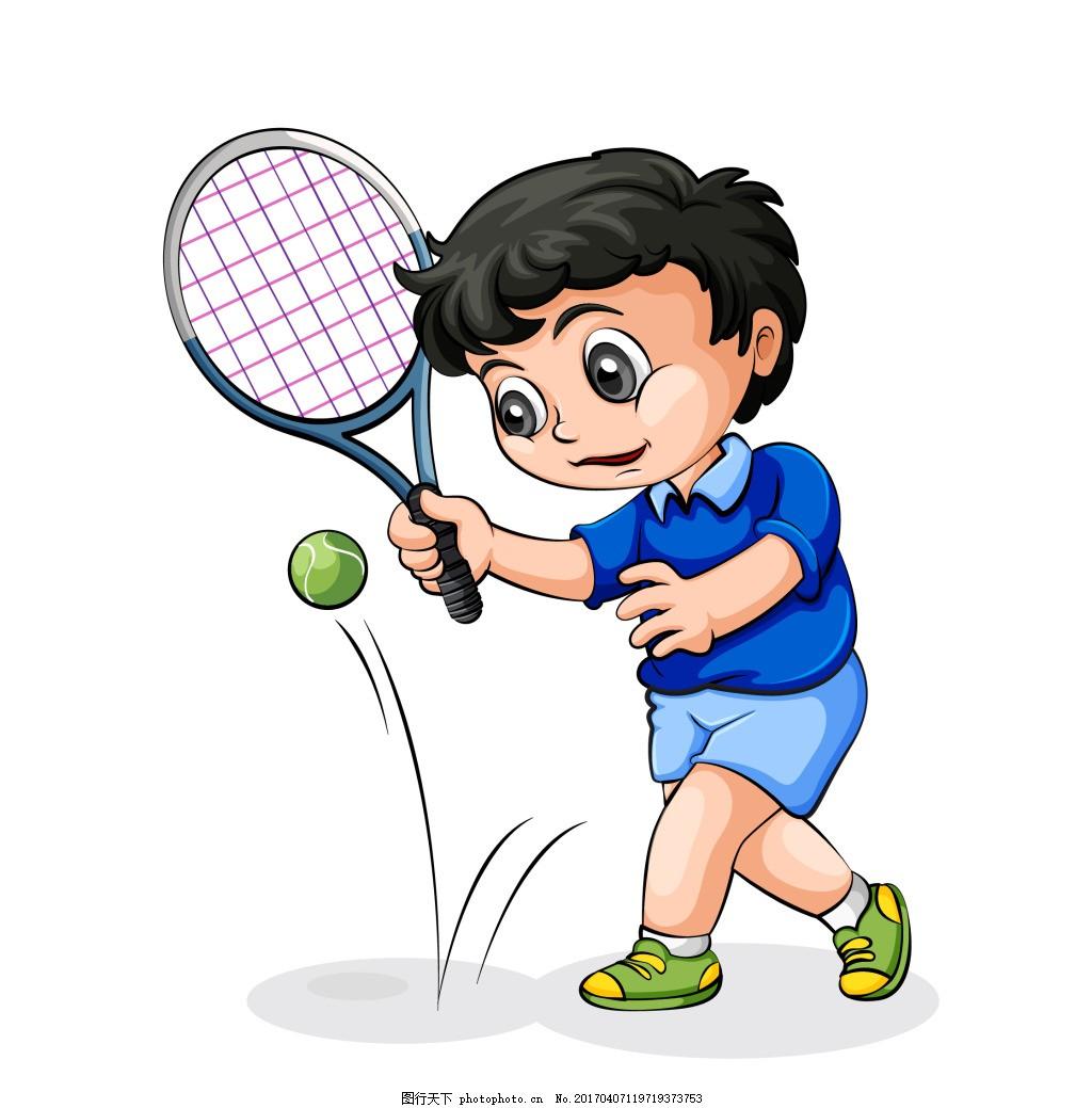矢量卡通打球eps,可爱的卡通儿童人物矢量素材 活泼