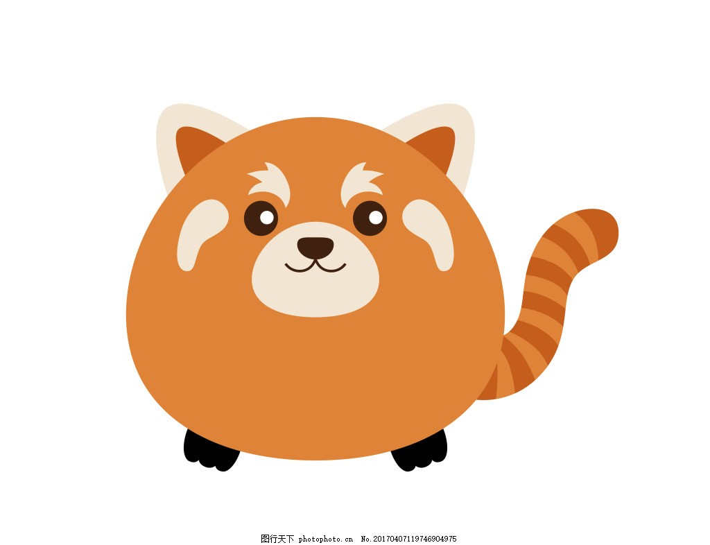 橙色卡通小动物eps 卡通动物矢量图图片下载 可爱卡通动物图 矢量素材
